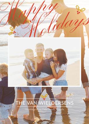 holiday photo cards - Hugs and Greetings by Martin Rigodon