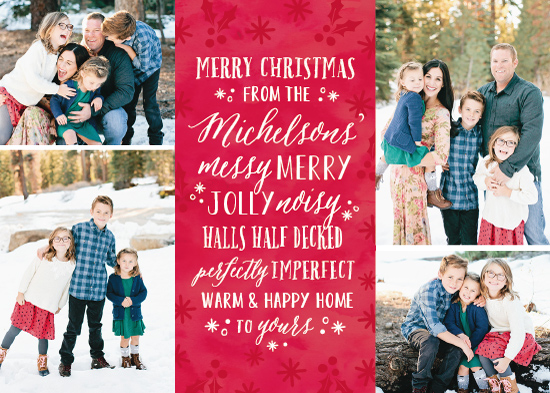 holiday photo cards - Messy and Merry by Dawn Jasper