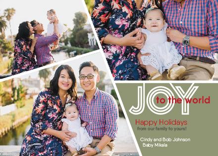 holiday photo cards - Joy for the Family by Rhonda Kinahan