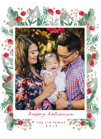 holiday photo cards - merry melange by pandercraft