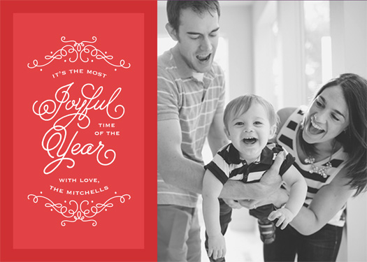 holiday photo cards - Joyful Year by Chelsea Voorhees