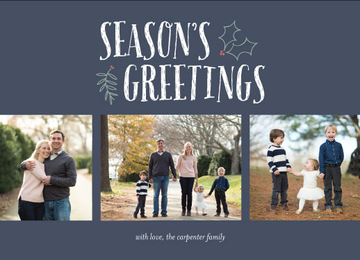 holiday photo cards - sprig and holly by Brandi Lee