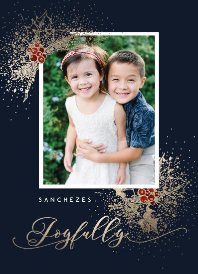 holiday photo cards - Joyfully by CaroleeXpressions