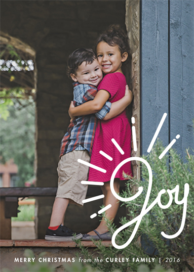 holiday photo cards - brightest joy by SimpleTe Design