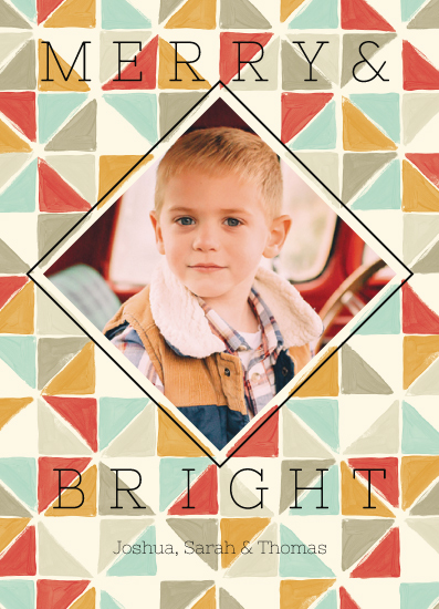 holiday photo cards - Colorpop Triangles by Katarina Berg