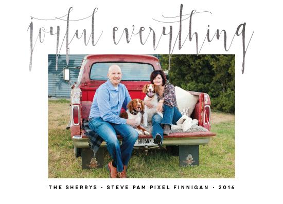 holiday photo cards - Joyful Everything by PIXELIMPRESS
