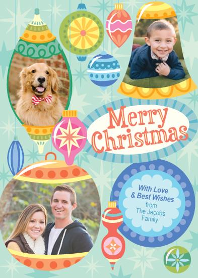 holiday photo cards - Funky Ornaments by Carol Yoshizumi