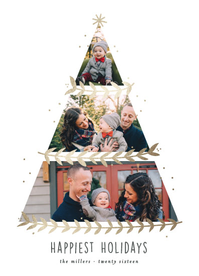 holiday photo cards - Petit Leaf by Bethan