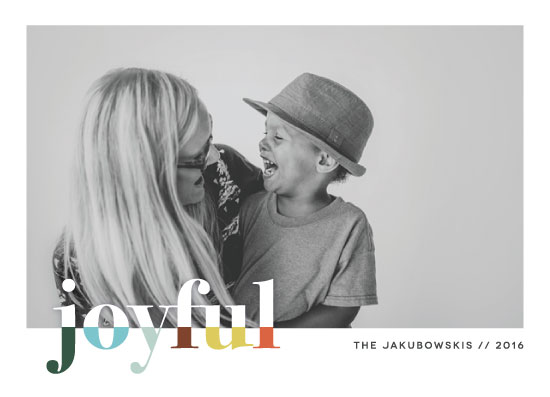holiday photo cards - bountiful joy by Snow and Ivy