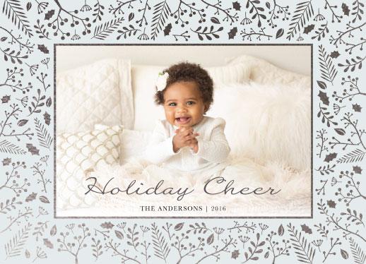 holiday photo cards - Botanical Border by Basil Design Studio