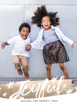 joyful flourish