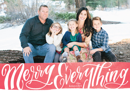 holiday photo cards - Everything is Merry by Julie Murray