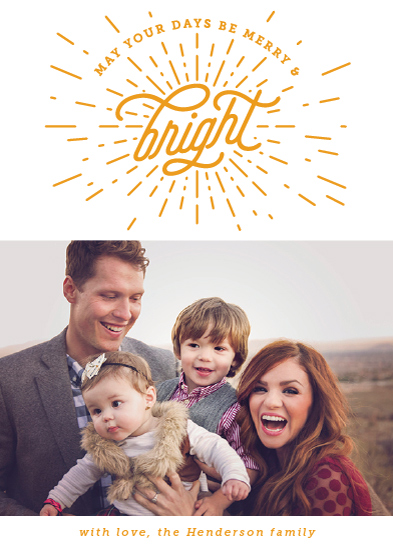 holiday photo cards - Bright Starburst by Ling Wang