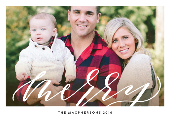 holiday photo cards - Scripted Merry by Haley Warner