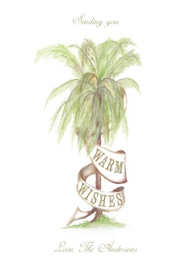 Non Photo Holiday Cards Palm Tree Holiday At Mintedcom