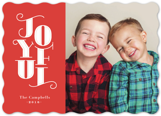 holiday photo cards - stacked Joy by Jennifer Wick