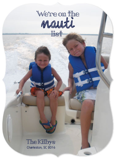 holiday photo cards - Nauti Family by Mikk Designs