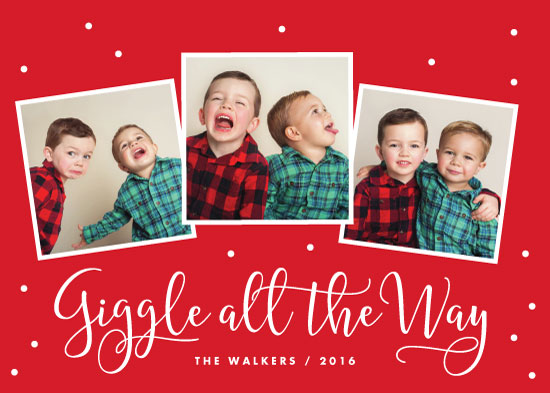 holiday photo cards - Giggle All the Way by Sandra Picco Design