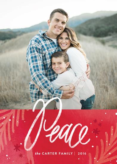 holiday photo cards - paint splattered peace by Jennifer Wick
