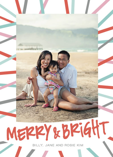holiday photo cards - Merry Ribbons by Lauren Young