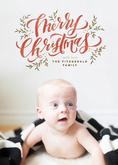 holiday photo cards - Merry Christmas Wish by Wildfield Paper Co.