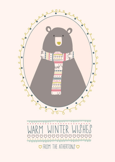 non-photo holiday cards - Mr Winter Bear by Emily Atherton