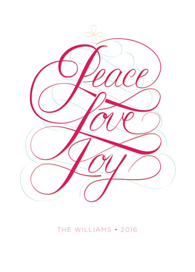 non-photo holiday cards - PeaceLoveJoy by andrea espinosa