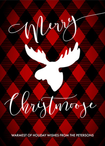 non-photo holiday cards - Merry Christmoose by Jessica Mavromatis