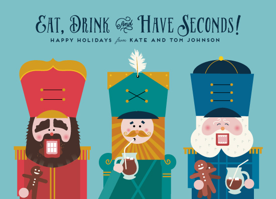 non-photo holiday cards - Eat Drink and Have Seconds by Katie Zimpel