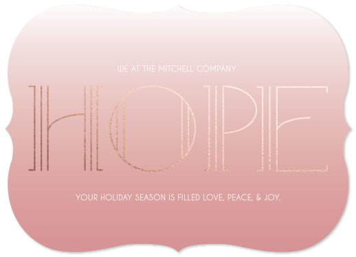 non-photo holiday cards - I'm Blushing Hope by Lora Mitchell