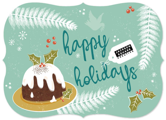 non-photo holiday cards - Holiday Treats by Lesley Young