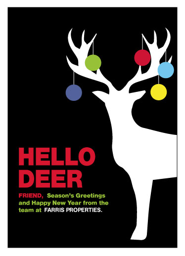 non-photo holiday cards - DEER FRIEND by Bronwyne Carr Chapman