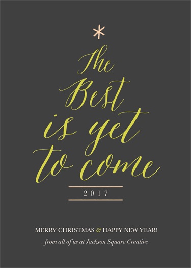 non-photo holiday cards - The Best Is Yet To Come by Chelsea Voorhees