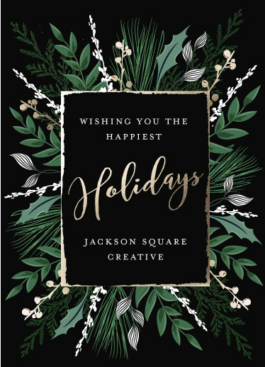 non-photo holiday cards - Happiest Holiday by Susan Moyal
