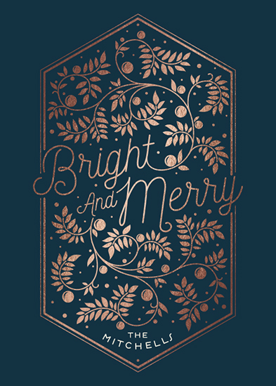 non-photo holiday cards - Winter Berry by GeekInk Design