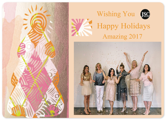 non-photo holiday cards - Gold Foil Amazing by A Maz Designs
