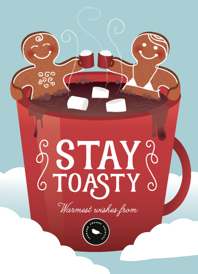 non-photo holiday cards - Stay Toasty by Katie Zimpel