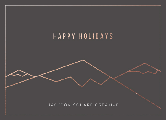 non-photo holiday cards - Icy Mountains by Mai Jimenez