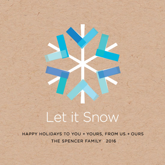 non-photo holiday cards - The Crafty Flake by Papermine Studio