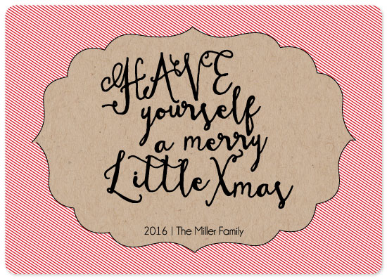 non-photo holiday cards - Merry Xmas by Emily Ripka