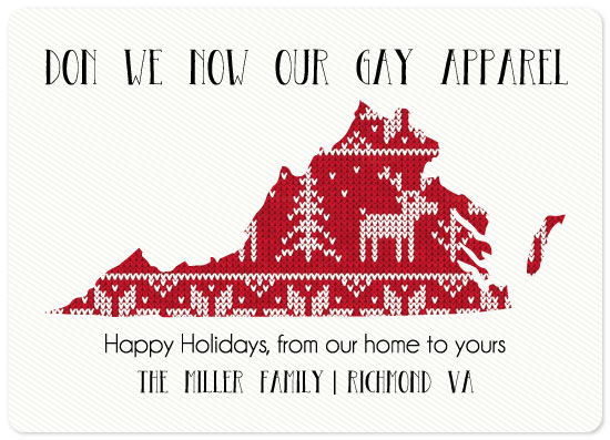 non-photo holiday cards - Tacky Sweater State by Emily Ripka