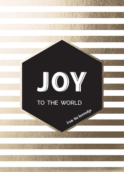 non-photo holiday cards - Modern Joy by Tory Casey