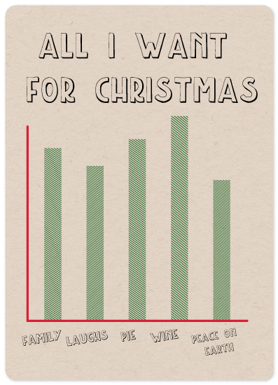 non-photo holiday cards - Holiday Bar Chart by Emily Ripka