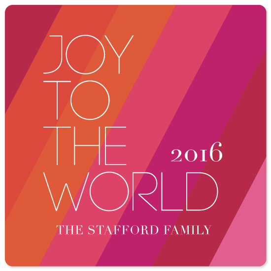 non-photo holiday cards - modern joy by Kristy Stafford