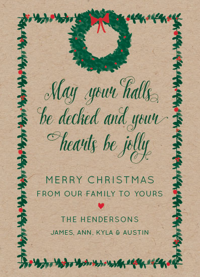 non-photo holiday cards - Berry Merry Christmas by Laura Cone