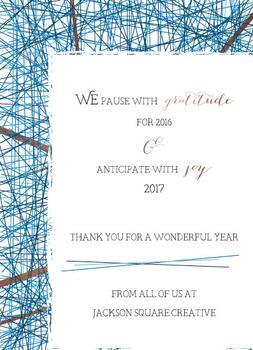 Gratitude and Anticipation