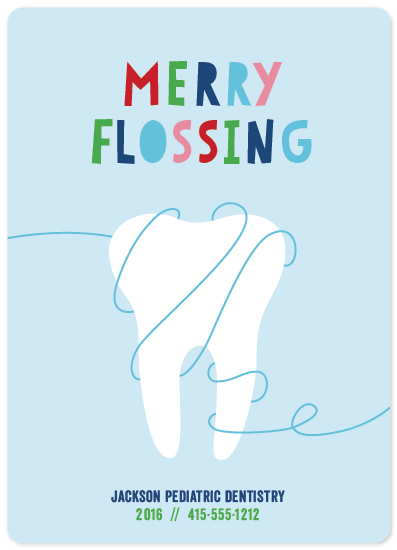 non-photo holiday cards - Merry Flossing by Melissa Casey