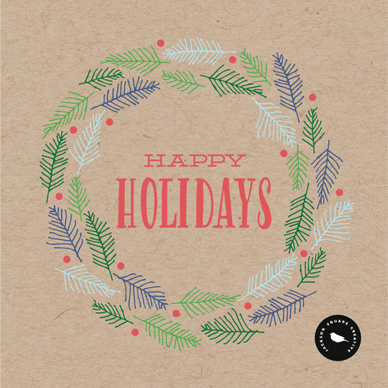 non-photo holiday cards - Because We're Happy! by Natalie Leroux