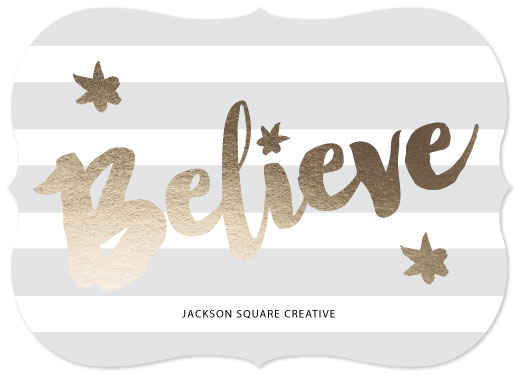 non-photo holiday cards - - Believe - by Meredith Collie
