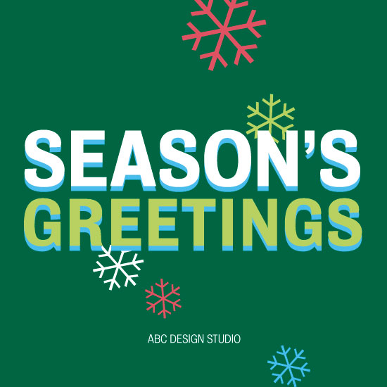 non-photo holiday cards - Red&Green Flakes by Susan Uedelhofen
